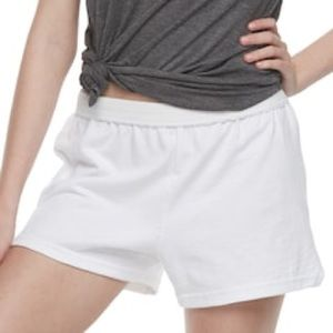 White athletic Soffe shorts